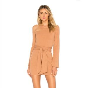 New Privacy Please Mini Dress in Tan